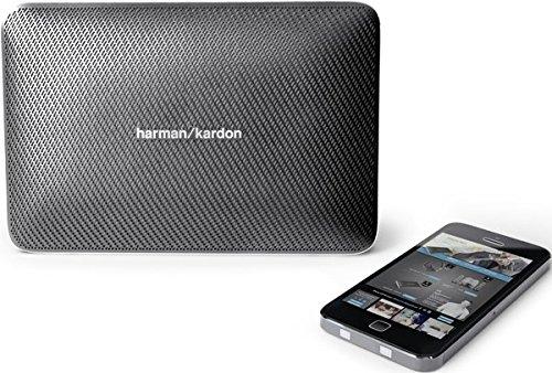Harman/Kardon Esquire 2 Sistema Altoparlante Wireless/Bluetooth, Portatile, Ricaricabile, Sottile con Microfono Conferenza 360° Integrato, Grigio