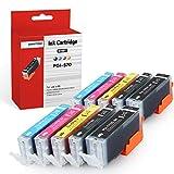 SMARTOMI-Multipack de 10 Cartouches d'encre compatibles avec Les modèles Canon PGI-570 XL Noir et CLI-571 Trois Couleurs pour imprimantes Canon Pixma MG5750 MG5751 MG5752 MG5753 MG6851 MG6850 et 7750