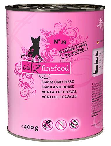 catz finefood N° 19 Lamm & Pferd Feinkost Katzenfutter nass, verfeinert mit Zucchini & Tomate, 6 x 400g Dosen