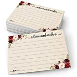 SUPERIOR QUALITY: Designed and Made in the USA. PREMIUM CARD STOCK: Thick, durable 14 pt (140 lb or 300 gsm) luxury card stock. Easy to write on, and won't bleed through. PERFECT KEEPSAKE: For wedding, bride and groom, parents-to-be, bridal shower, b...
