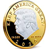 Donald Trump 2020 Challenge Coin - Commemorative Coin Keep America Great Plated in The Commemorative Collectors Edition Series (Silver)