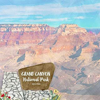Scrapbook Customs 39090 Grand Canyon National Park Watercolor Arizona 12 Inch x 12 Inch Double-Sided Scrapbook Paper - 1 Sheet