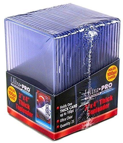 2 Ultra Pro 100pt Top Loaders - 25 100 Pt Toploaders Per Pack (50 Total) - Thick Baseball, Football, Basketball, Hockey, Gaming