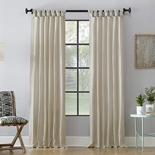 """Archaeo Washed 100% Cotton Twist Tab Curtain, 52"""" x 84"""" Panel, Oatmeal"""