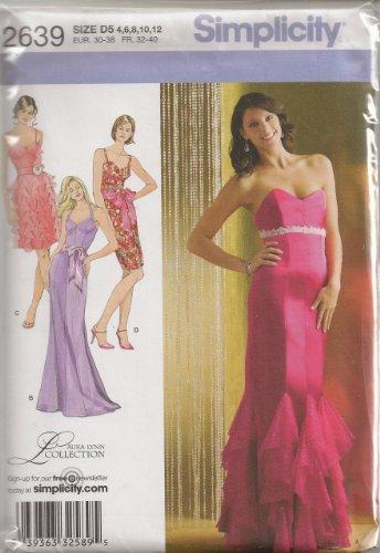 OOP Simplicity Schnittmuster 2639 Damenkleid in 2 Längen, Gr. 36, 38, 38, 38, 38, 38, 38, 38, 42, Laura Lynn Collection