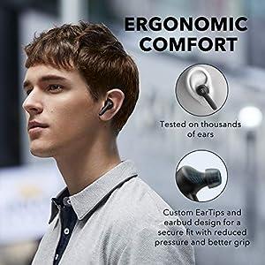 Soundcore Life P2 Bluetooth Kopfhörer, Wireless Earbuds mit CVC 8.0 Geräuschisolierung für kristallklares Klangprofil, 40 Stunden Akkulaufzeit, IPX7 Wasserschutzklasse, für Arbeit und unterwegs