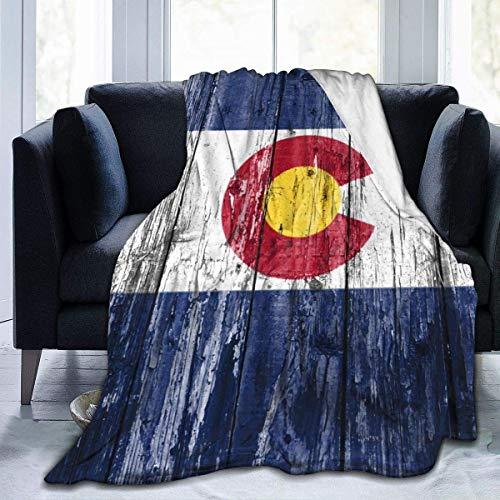 Lawenp Manta de Tiro con Bandera de Colorado, Manta de Microfibra Ultra Suave, Manta de sofá Suave y cálida para sofá Cama, Sala de Estar