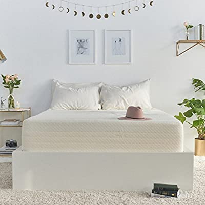 """Brentwood 10"""" Gel Infused HD Memory Foam Mattress - 100% Made in USA - CertiPur Foam - 25-Year Warranty, Triple Layer, Natural Bamboo Cover, Full Size 54 x 75 x 10"""