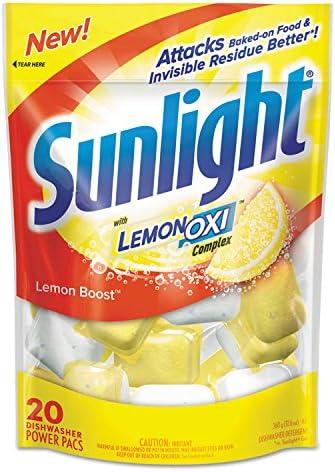 discount Dishwashing Detergent, outlet sale 20 online sale Packs, Lemon, PK6 outlet sale