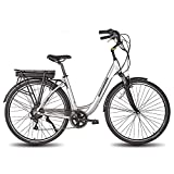 LITHIUM BATTERY & RELIABLE MOTOR---This bike with a a 250W motor lets you go As fast as 16 mph for up to 35 miles . A 250W brushless motor providing 5 levels of assistance to 20MPH max. Fully enclosed waterproof and dustproof IP5.And with the 36V/10....