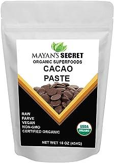 Cacao Paste Organic Raw Wafers Bulk 1 Pound Cacao Paste Unsweetened, Vegan,