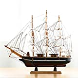 LVSSY-Holz Segelschiff Modell Kreative Büro Dekoration Holz Handwerk Modell Indoor Home Feine Dekoration (39 cm * 35 cm),A -