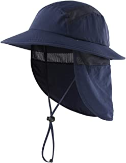 UPF 50+ Boys Sun Hat with Neck Flap Summer Beach Hat Kids...