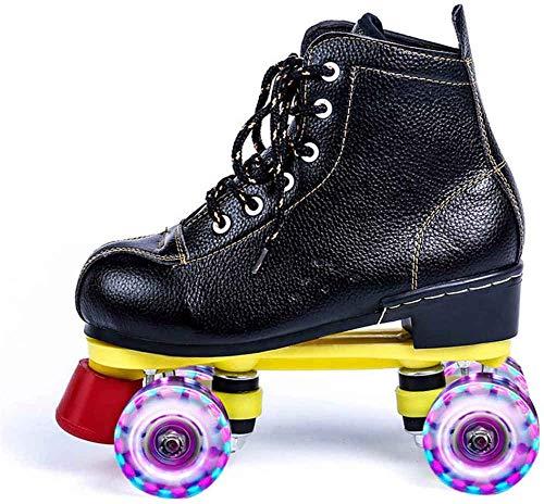 SNFHL Mädchen-Skates, Kinder-Allrad-Skates, Allrad-Skates mit Lichtemission, Geeignet für Anfänger,UK 7.5/EU 41...