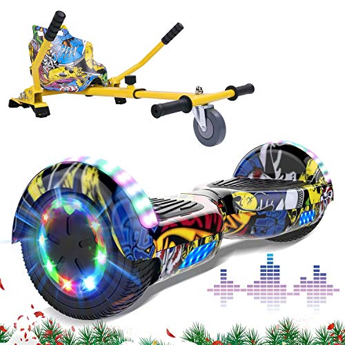 "MARKBOARD Patinete Eléctrico 6.5"" con Hoverkart Hoverboards Scooter Auto- Equilibrio Dual Motor..."