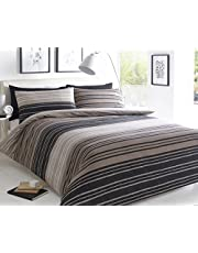 Sleep Down - Juego de funda nórdica para cama de matrimonio, algodón, Color Gris, 200 x 200 cm