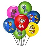 48 pcs PAW Dog Patrol Balloons Party Supplies, 12 Inch Large Latex Balloons For Kids Birthday PAW Dog Patrol Theme, Baby Shower Birthday Party Decorations
