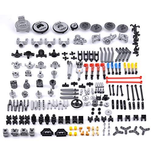 PEXL Technik Ersatzteile Set, Technic Teile Steine Einzelteile, Klemmbausteine Set Kompatibel mit Lego Technik