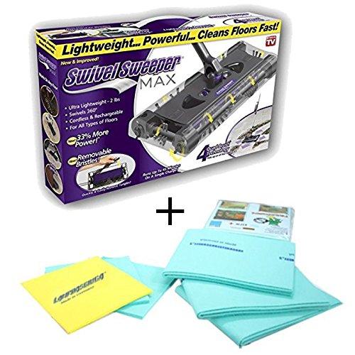 DOBO Scopa rotante max + panno lampoasciuga Swivel Sweeper Max la tua nuova scopa elettrica rotante elettrica senza fili e sacchetto più panno lampoasciuga