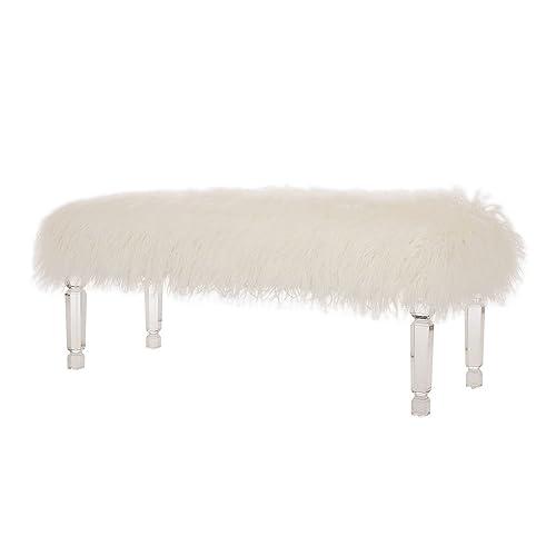 White Bench for Bedroom: Amazon.com