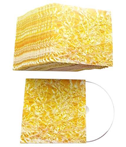 CD Hüllen aus Karton in Design Gold-Folie-Gelb bedruckt, CD Kartonstecktaschen (Papphüllen) für je 1 CD/DVD/BD-R Rohling - 50er Pack