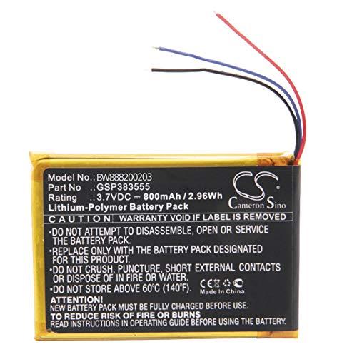 vhbw Batería Recargable reemplaza JBL GSP383555 para Altavoces, Cajas acústicas, bafles (800 mAh, 3,7 V, polímero de Litio)