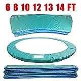 Greenbay - Almohadilla de repuesto para cama elástica de 2,4 m - resistente a los rayos UV y parte superior de PVC - espuma EPE (polietileno expandido) - espesor: 15 mm, ancho: 300 mm - cobertor verde