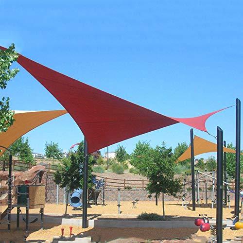 Yanty Malla Sombra Protector Solar,Sombra Toldo,Tela Sombra Multifuncional,Triángulo3x4x5m (10 * 13 * 16 Pies),para Jardín Al Aire Libre,Balcones,Parque De Atracciones,Rust Red