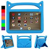 All-New 8 Tablet Case (Compatible with 6th/7th/8th Generation Tablets, 2016 2017 2018 Releases) - Riaour Anti Slip Shockproof Light Weight Protective Cover [Kids Friendly] - Blue