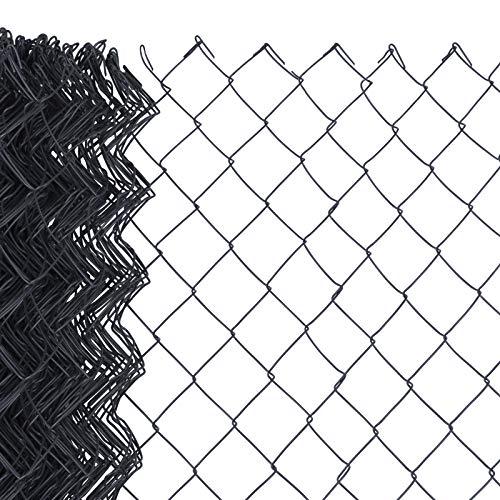 HORI® Maschendrahtzaun I Zaun Komplettset I verschiedene Längen und Höhen I Maße: L x H | 15 x 1,00 m I Anthrazit