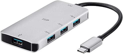 Monoprice USB-C 10G Hub Adapter with 4-Port USB 3.0 - Aluminum Body, USB 3.1, Plug & Play, Bus Powered - Consul Series