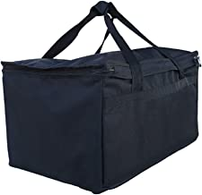 Earthwise Insulated Grocery Food Delivery Bag Heavy Duty Nylon Extra Large Capacity with Insulation - Commercial Quality - Perfect Food Warmer Thermal Bags to Bring Hot or Cold Food Home