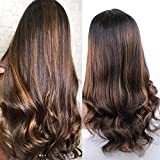 Brazilian Body Wave Blonde Ombre Wig Human Hair Lace Front Wig With Baby Hair For Black Women Highlight Blonde Color 20Inch
