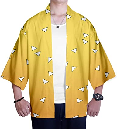 Kimono Demon Slayer: Kimetsu no Yaiba Estampado Cardigan Camisa Cosplay Tshirt Japonés Elegante Kimono Albornoz Verano Pijamas Kamado Tanjirou Kamado ...
