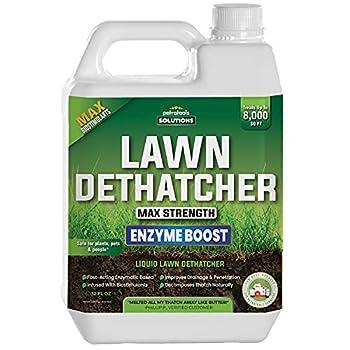 PetraTools Liquid Dethatcher Lawn Dethatcher & Aerator Grass Dethatcher & Thatch Rake Alternative Thatch Remover Liquid Thatch Remover Lawn Dethatch Product Lawn Dethatching Solutions  32 Oz