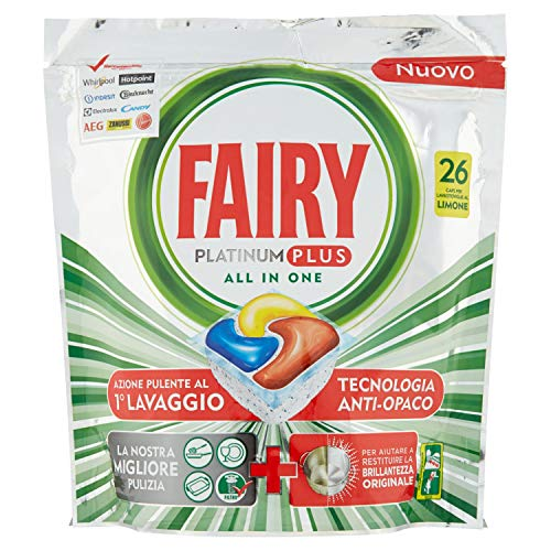 Fairy Limpiador lavavajillas Platinum Plus Regular, 26 cápsulas
