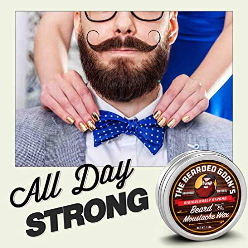 The Bearded Goon's Ridiculously Strong Beard and Handlebar Mustache Wax - 1oz (30ml) by The Bearded...