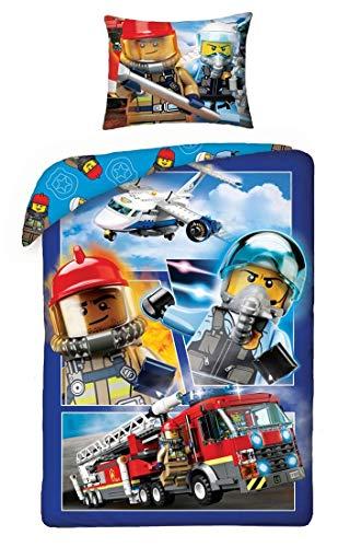 SaYes Lego brandweerman en vliegtuigpilot 140x200 + 70x90
