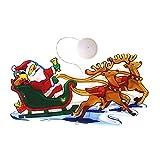Ruipunuosi Lampada a sospensione di aspirazione della finestra della finestra del led di Natale che tira le luci di Natale del Babbo Natale (consegnate senza batterie)