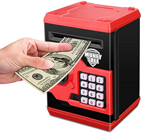 Viracy ATM Piggy Bank ATM Machine Best Gift for Ages 3-9 Kids,Electronic Code Piggy Bank Money Counter Safe Box Coin Bank for Boys Girls