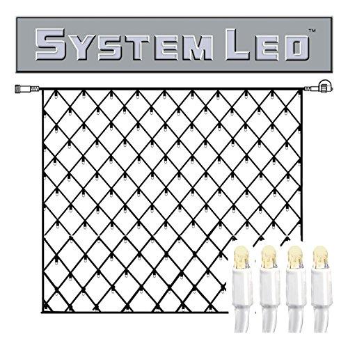Star 466-16-33 System LED Net-Extra, 192 L Couleur Chaud, câble: Blanc ca. 3 m x 3 m, extérieur, connectable, Boite coloré
