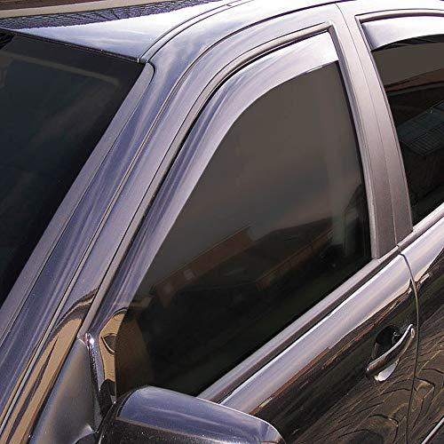 Vordere Windabweiser (1 Set) für die Fahrer und Beifahrerseite-CLS003P0031D passend für Jeep Wrangler GLW, TYP JK (JL), 2/4-DOOR, 2018- Dunkles Material