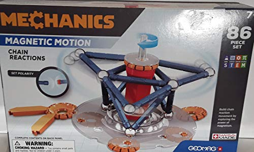 Geomag Mechanics Magnetic Motion Chain Reaction 86 Piece Set Swiss Made