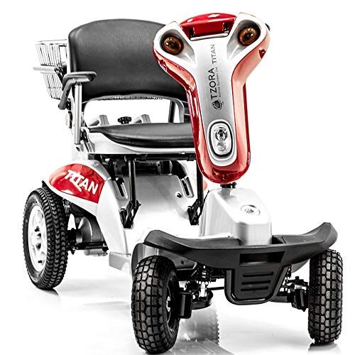 Hummer XL 4 Wheel Folding Mobility Scooter Titan 4 + Extended 3 Year Warranty (Red)
