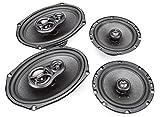 Skar Audio 6'x9' 300W 3 Way Coaxial and 6.5' 200W Car Audio Speakers System - 4 Speakers