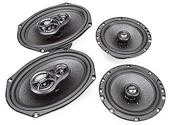 Skar Audio 6 x9  300W 3 Way Coaxial and 6.5  200W Car Audio Speakers System - 4 Speakers