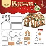 KBstore Navidad Cortador de Galletas Moldes para Galletas de Acero Inoxidable - Molde para Cortar Galletas para Pastel Decorar/Artesanía de Tartas/Cookie - Forma de casa de Pan de Jengibre #1