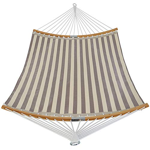 Patio Guarder 13.5FT Quick Dry Hammock Curved Bamboo Spreader Bar Double...