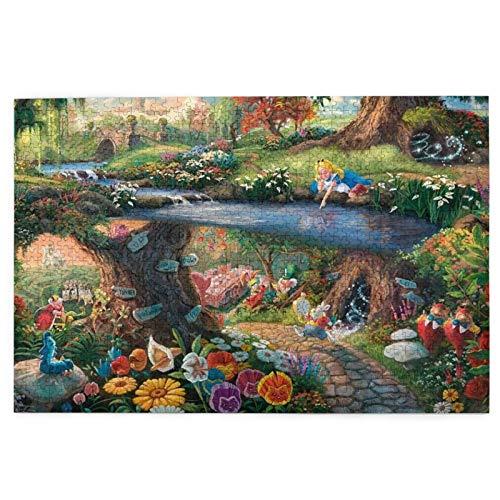 Cute Doormat Disney Alice in Wonderland - Rompecabezas para adultos, 1000 piezas, rompecabezas de madera, juguete de descompresión para adultos y niños