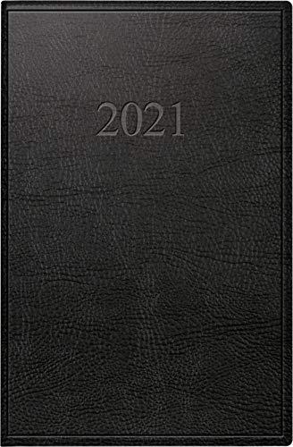 rido/idé 7011054901 Taschenkalender partner/Industrie I, 2 Seiten = 1 Woche, 72 x 112 mm, Kunstleder-Einband Prestige schwarz, Kalendarium 2021